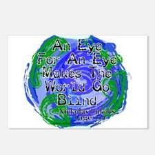 Eye For An Eye Blind Postcards (Package of 8)