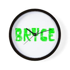 Bryce Faded (Green) Wall Clock