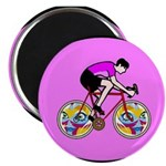 Abstract Bicycle Riding Print Magnets