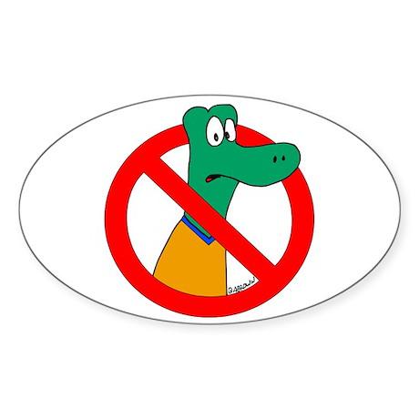 Anti-Gators Sticker (Oval 10 pk)
