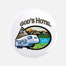 "God's Hotel 3.5"" Button"