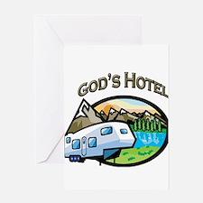 God's Hotel Greeting Card