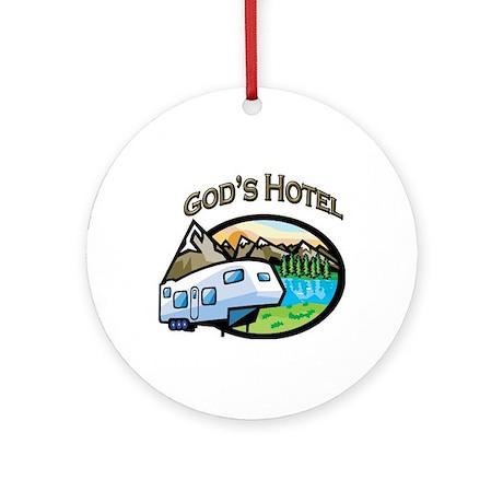 God's Hotel Ornament (Round)