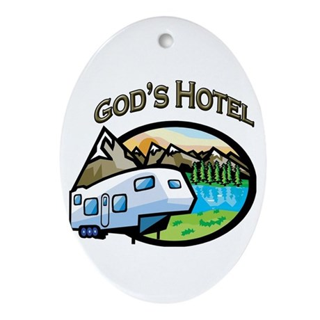 God's Hotel Oval Ornament