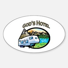 God's Hotel Oval Decal