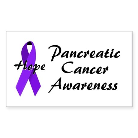 Pancreatic Cancer Awareness Rectangle Sticker