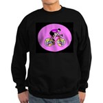 Abstract Bicycle Riding Print Sweatshirt