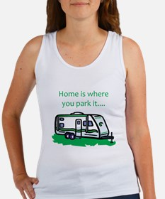 Home is where you park it Women's Tank Top