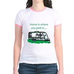 Home is where you park it Jr. Ringer T-Shirt