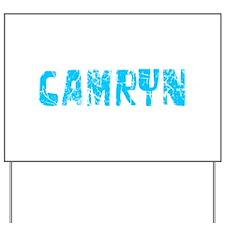 Camryn Faded (Blue) Yard Sign