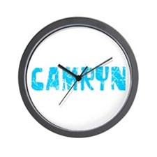 Camryn Faded (Blue) Wall Clock