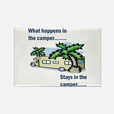Stays in the camper Rectangle Magnet