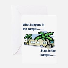 Stays in the camper Greeting Card