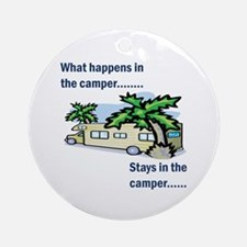 Stays in the camper Ornament (Round)