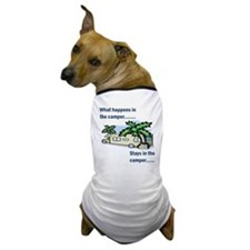 Stays in the camper Dog T-Shirt