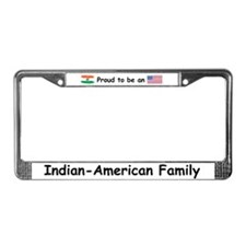 Indian-American Family License Plate Frame