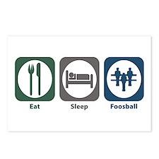 Eat Sleep Foosball Postcards (Package of 8)