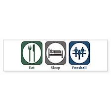 Eat Sleep Foosball Bumper Bumper Sticker