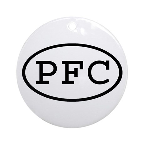 PFC Oval Ornament (Round)