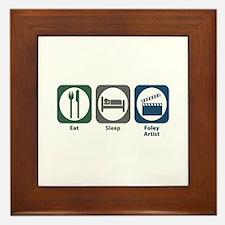Eat Sleep Foley Artist Framed Tile