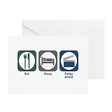 Eat Sleep Foley Artist Greeting Cards (Pk of 10)