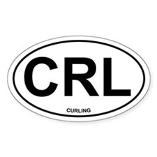 CRL Curling Oval Decal