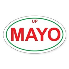 Green & Red UP MAYO Oval Decal