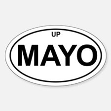 UP MAYO Oval Decal