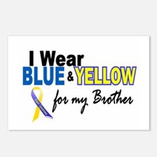 I Wear Blue & Yellow....2 (Brother) Postcards (Pac