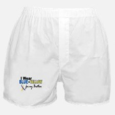 I Wear Blue & Yellow....2 (Brother) Boxer Shorts