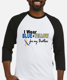 I Wear Blue & Yellow....2 (Brother) Baseball Jerse