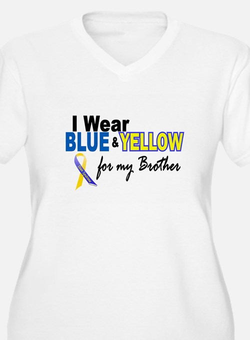I Wear Blue & Yellow....2 (Brother) T-Shirt