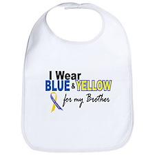 I Wear Blue & Yellow....2 (Brother) Bib
