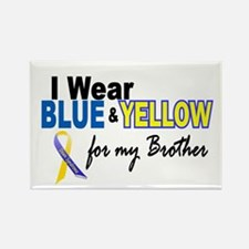 I Wear Blue & Yellow....2 (Brother) Rectangle Magn