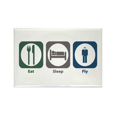 Eat Sleep Fly Rectangle Magnet