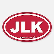 JLK Jordan Lake, NC Red Euro Oval Decal