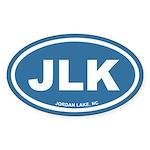 JLK Jordan Lake, NC Blue Euro Oval Sticker