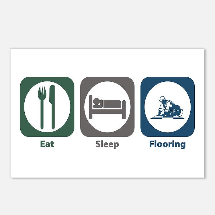 Eat Sleep Flooring Postcards (Package of 8)