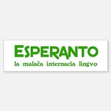 Nonwretched Esperanto Bumper Car Car Sticker