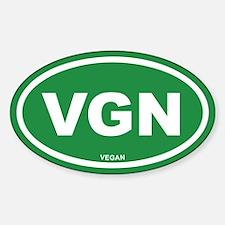 VGN Vegan Green Euro Oval Decal
