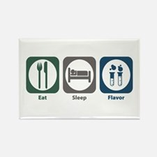 Eat Sleep Flavor Rectangle Magnet