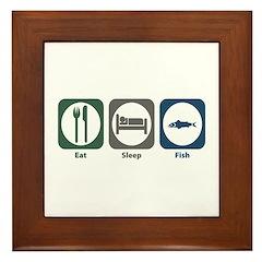 Eat Sleep Fish Framed Tile