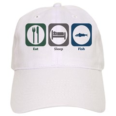 Eat Sleep Fish Baseball Cap