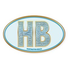 Fancy Blue HB Oval Decal