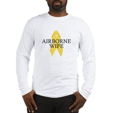 Airborne Wife Ribbon Long Sleeve T-Shirt
