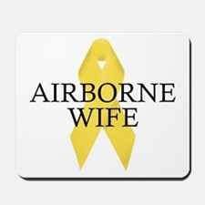 Airborne Wife Ribbon Mousepad