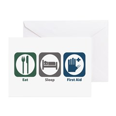 Eat Sleep First Aid Greeting Cards (Pk of 20)