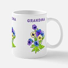 Grandma Pansies Mug