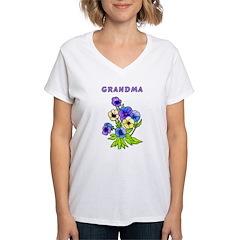 Grandma Pansies Shirt