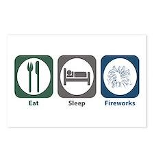 Eat Sleep Fireworks Postcards (Package of 8)